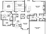 Floor Plans for A 4 Bedroom 2 Bath House 653906 Beautiful 4 Bedroom 3 5 Bath House Plan with