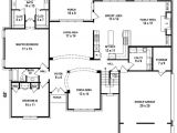Floor Plans for A 4 Bedroom 2 Bath House 654206 5 Bedroom 4 Bath House Plan House Plans Floor