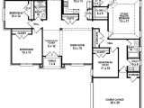 Floor Plans for A 4 Bedroom 2 Bath House 654254 4 Bedroom 3 Bath House Plan House Plans Floor