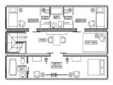 Floor Plans for Container Homes Shipping Container Apartment Plans Container House Design