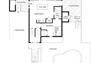 Floor Plans for Homes with Pools House Plans with Pool Ranch House Plans with A Courtyard