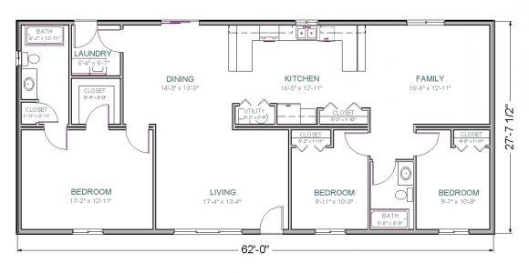 Floor Plans for Homes00 Square Feet 1800 Sq Ft House Plans 2 Bedroom