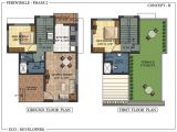 Floor Plans for Indian Homes Floor Plan Periwinkle Bungalows at Murbad Indian Eco