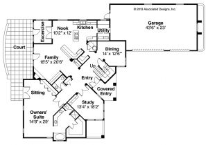 Floor Plans for Mediterranean Style Homes Mediterranean House Plans Pasadena 11 140 associated