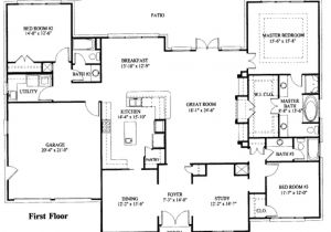 Floor Plans for One Story Homes Simple One Story House Plan House Plans Pinterest 1 Story