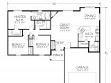 Floor Plans for One Story Homes Single Story Open Floor Plan Homes Lovely Single Story