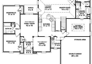 Floor Plans for One Story Homes Single Story Open Floor Plans One Story 3 Bedroom 2