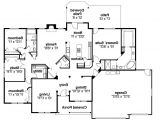 Floor Plans for Ranch Homes Ranch House Plans Pleasanton 30 545 associated Designs