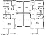 Floor Plans for Semi Detached Houses 4 Bedroom Semi Detached Duplex First Floor Plan Duplex