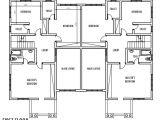 Floor Plans for Semi Detached Houses 4 Bedroom Semi Detached Duplex First Floor Plan Duplex