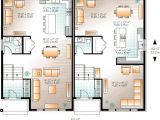 Floor Plans for Semi Detached Houses Contemporary Semi Detached Multi Family House Plan