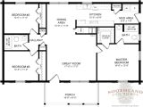 Floor Plans for Single Level Homes Single Story Log Home Floor Plans Large Single Story Log