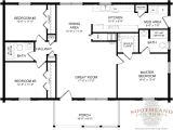 Floor Plans for Single Level Homes Single Story Log Home Floor Plans Large Single Story Log
