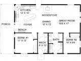 Floor Plans for Sq Ft Homes Cabin Style House Plan 2 Beds 1 Baths 1200 Sq Ft Plan