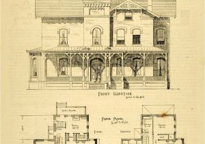 Floor Plans for Victorian Style Homes 1873 Print House Home Architectural Design Floor Plans