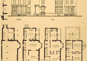 Floor Plans for Victorian Style Homes Vintage Victorian House Plans 1879 Print Victorian House