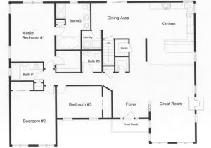 Floor Plans Home 3 Bedroom Ranch House Open Floor Plans Three Bedroom Two