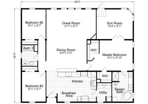 Floor Plans Home Wellington 40483a Manufactured Home Floor Plan or Modular