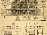 Floor Plans Victorian Homes 1879 Print Victorian House Architectural Design Floor