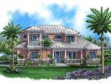 Florida Coastal Home Plans Covered Lanai with Fireplace 66288we 1st Floor Master