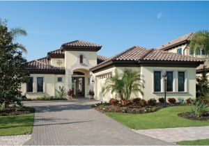 Florida Custom Home Plans Bardmoor 1172 Mediterranean Exterior Tampa by