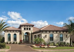 Florida Custom Home Plans Sienna 1220 Mediterranean Exterior Tampa by Arthur