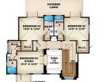 Florida Home Plans with Lanai Covered Lanai with Fireplace 66288we 1st Floor Master