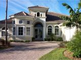 Florida Homes Plans Mediterranean Home Design with Cream Wall Paint Color