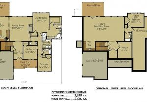 Four Bedroom House Plans with Basement House Plans with A Basement Awesome Surprising 2 Story