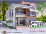 Free Home Plans Indian Style north Indian Style Flat Roof House with Floor Plan