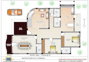 Free Indian Home Plans Luxury Indian Home Design with House Plan 4200 Sq Ft
