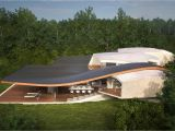 Futuristic Home Plans Futuristic Vacation Home Opens Up to Outdoors