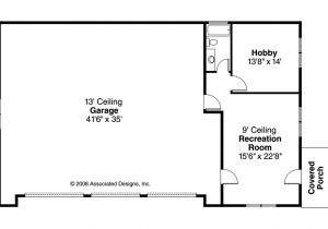 Garage Home Floor Plans Craftsman House Plans Rv Garage W Living 20 042