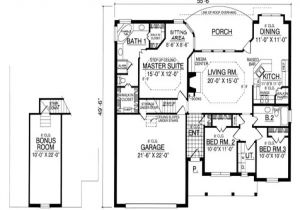 Garage Home Floor Plans One Story Bungalow Floor Plans Bungalow House Plans with