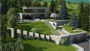 Garden and Home Architects Plans House Garden On A Steep Terrain On Behance