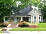 Garden and Home House Plans Classic House with Flower Garden Stock Photo Image Of