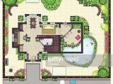 Garden Home Plans House Plan top View with Garden Vector Art Getty Images