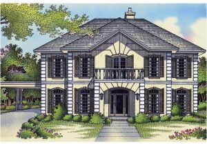 Georgian Style Home Plans Longhurst Mansion Georgian Home Plan 020s 0009 House