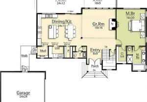 Great Floor Plans for Homes Modern House Plan with Two Story Great Room 18831ck