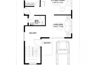 Ground Floor Plan for Home Two Story House Plans Series PHP 2014004