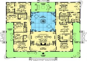 Hacienda Home Plans Spanish Style Home Plans with Courtyards Spanish Hacienda