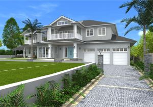 Hamptons Home Plans Architect Design 3d Concept Hamptons Style St Ives