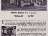 Harris Home Plans Website Side Gabled Craftsman Style Bungalow 1918 Harris Bros