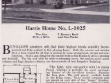 Harris Home Plans Website Single Story Modern Hipped Roof Bungalow 1918 Harris
