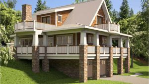Hillside House Plans with A View Hillside House Plans Rear View Hillside House Plans with