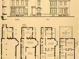 Historic Home Floor Plans Vintage Victorian House Plans 1879 Print Victorian House