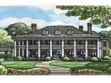 Historic southern Home Plans Colonial Plantation House Plans Historic southern