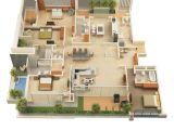 Home 3d Plan 3d Floor Plan Of A Celeb Mansion Modern House