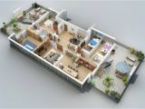Home 3d Plan Apartment Designs Shown with Rendered 3d Floor Plans