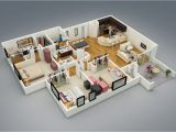 Home 3d Plans 25 More 3 Bedroom 3d Floor Plans